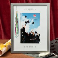 Silver Graduation Photo Frame